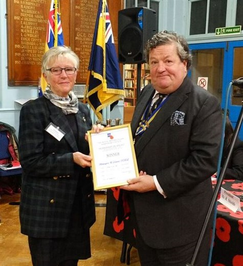 Cc Member Jan Buxton Accepting Whittington Rbl Membership Increase Winner Cert
