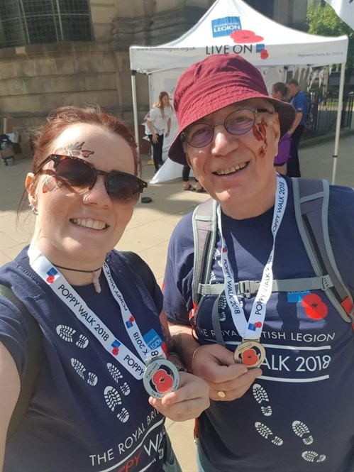 Megan And Alan Complete Birmingham Poppy Walk